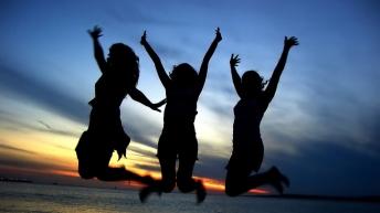 _Three_Friends_Celebrating_